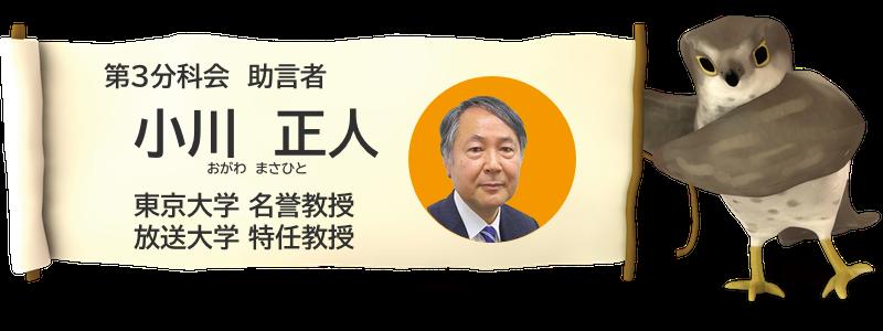 小川 正人 東京大学名誉教授、放送大学特任教授
